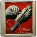 Affiche réalisée dans les années 1930 pour le syndicats des ouvriers du textile - Musée Magritte